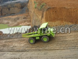 TEREX dump truck TR50 in worksite