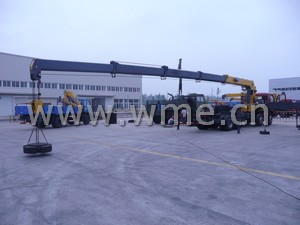 Truck Mounted Crane loading test