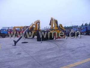 Truck Mounted Crane yard